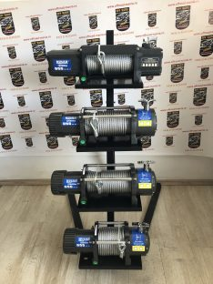 Troliu Husar Winch 12000 LBS 5443KG 12V cablu sintetic