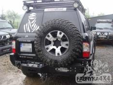 Bara spate OFF ROAD Nissan Patrol Y61 cu placă pentru troliu