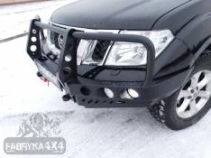 Bara fata OFF ROAD cu bull bar Nissan NAVARA D40 10-14