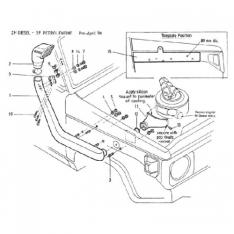 Snorkel Toyota Landcruiser 70, 75, 76,78