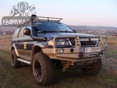 Bara fata OFF ROAD cu bull bar Mitsubishi Pajero Sport 96-00