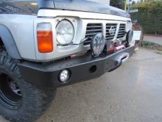 Bara fata OFF ROAD fara bullbar pentru Nissan Patrol Y60 cu gauri pentru lampi