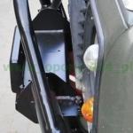 Bara fata tubulara OFF ROAD cu bullbar si placa troliu pentru Defender 90,110,130