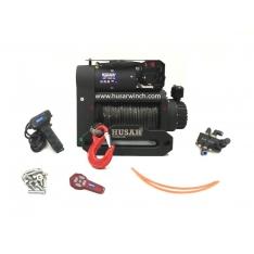 Troliu Husar Winch BST S 12000 LBS 5443KG 12V cablu sintetic si doua motoare