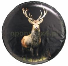 Husa roata de rezerva – print cu cerb pe fundal negru