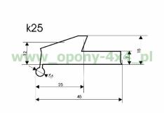 Overfender universal 25mm, k25 Offroad 4×4