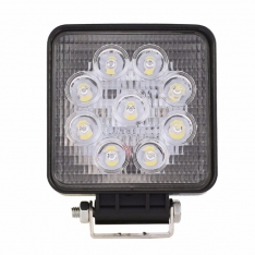 Lampa de lucru 9 LED-uri 27W Flood Slim Patrat 12V