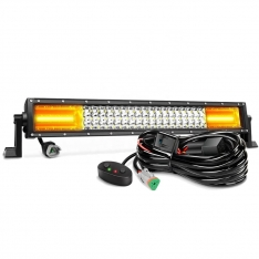 Led Bar Bicolor Alb si Galben 324W 54CM