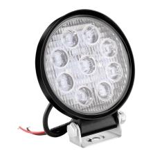 Lampa de lucru 9 LED-uri 27W Flood Slim Rotund 12V