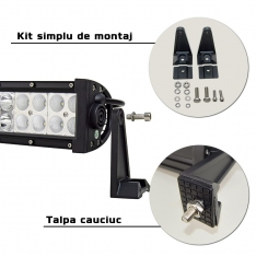 Led Bar Curbat 180W Spot / Combo 12V 80.5CM