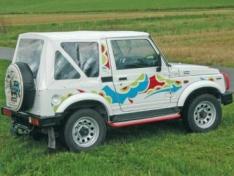Soft top Duratrail pentru Suzuki Samurai, alb
