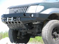 Bara fata fara bullbar versiunea cu overfendere pentru Toyota Land Cruiser J95 (1999-2002)