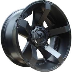 Janta aliaj negru mat XD811 Rockstar II 20X9 ET 30, 6×114.3 pentru Nissan Navara, Mercedes X-Class